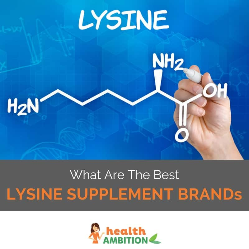 "Lysine molecule with the title ""What Are The Best Lysine Supplements Brands"""