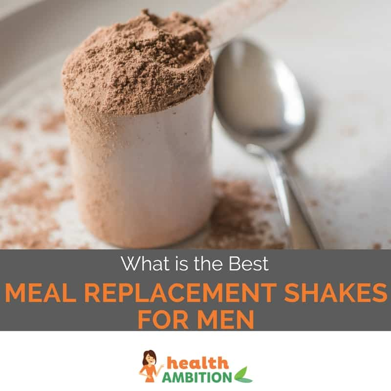 "Whey protein shake with the title ""What are The Best Meal Replacement Shakes For Men"""