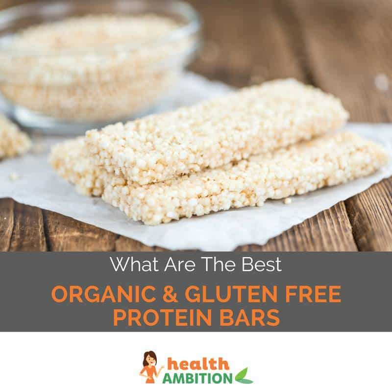 "Protein bars with the title ""What Are The Best Organic & Gluten Free Protein Bars?"""