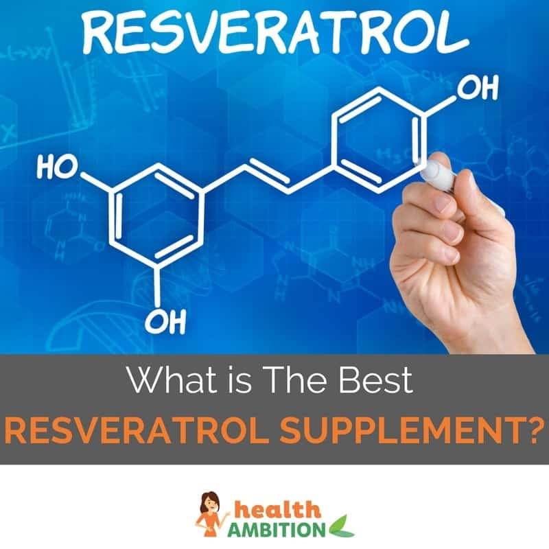 "Resveratrol molecule with the title ""What is The Best Resveratrol Supplement?"""