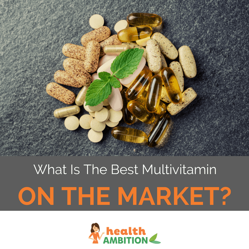 "Supplements and capsules with the title ""What is The Best Multivitamin on The Market?"""