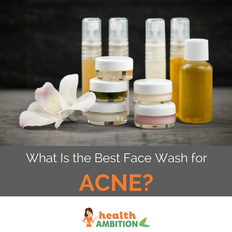 """Face washes nad cream with the title """"What Is the Best Face Wash for Acne?"""""""