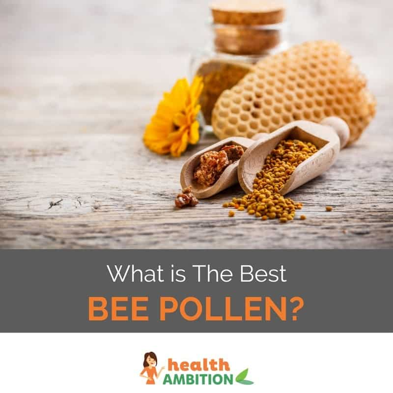 "Bee pollen with the title ""What is The Best Bee Pollen?"""