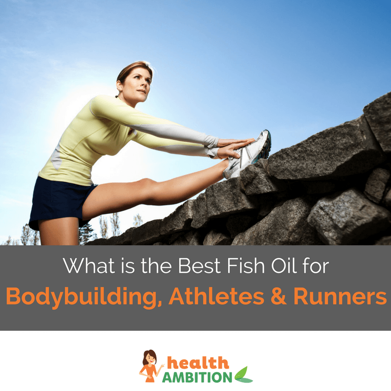 "A runner strecthing with the title ""What is the Best Fish Oil for Bodybuilding, Athletes and Runners?"""