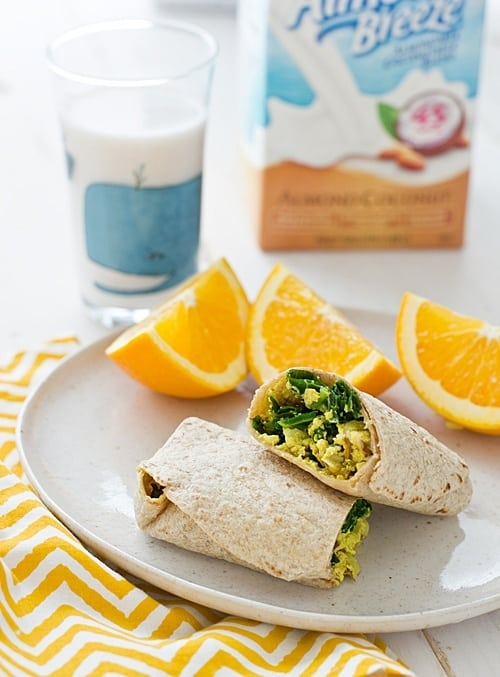 Freezer-Friendly Greens & Tofu Scramble Wrap