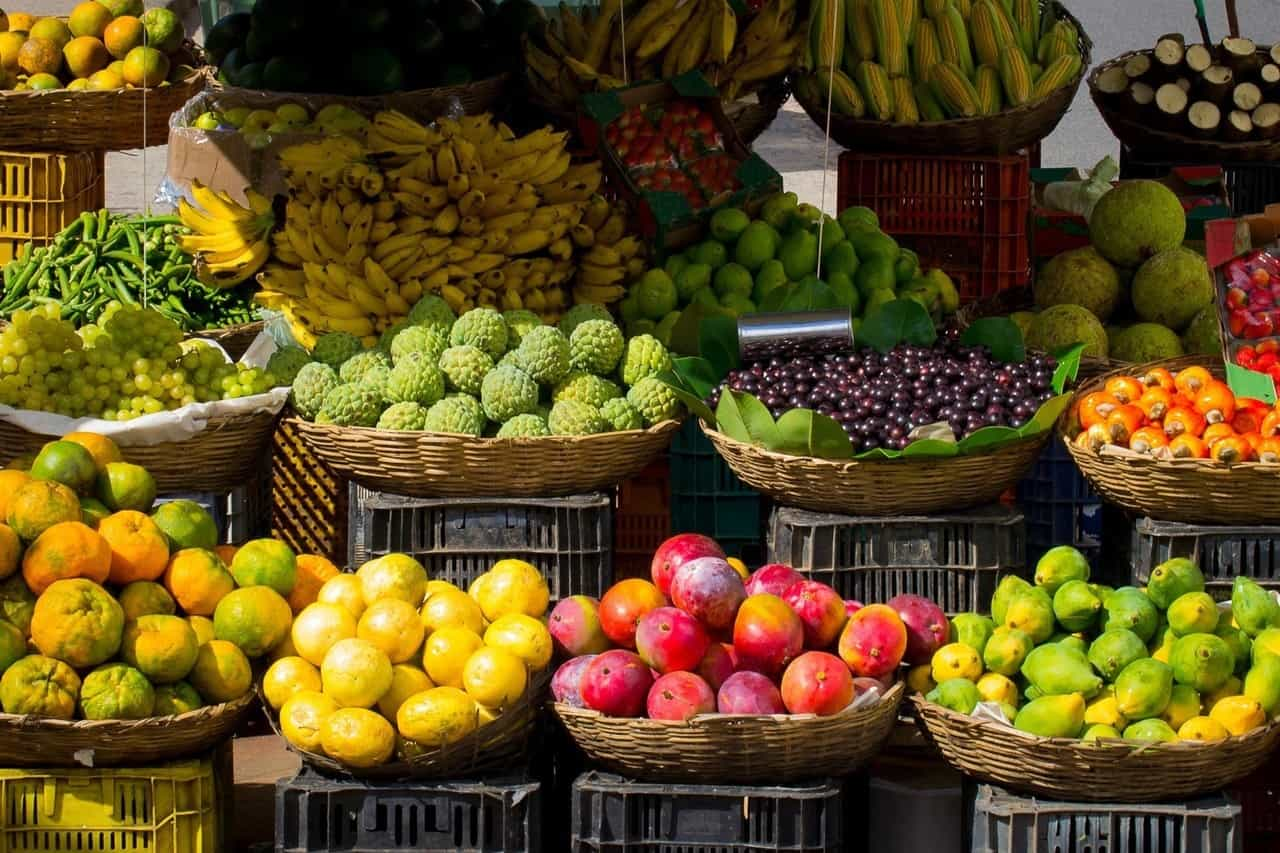 Fruits at a market.