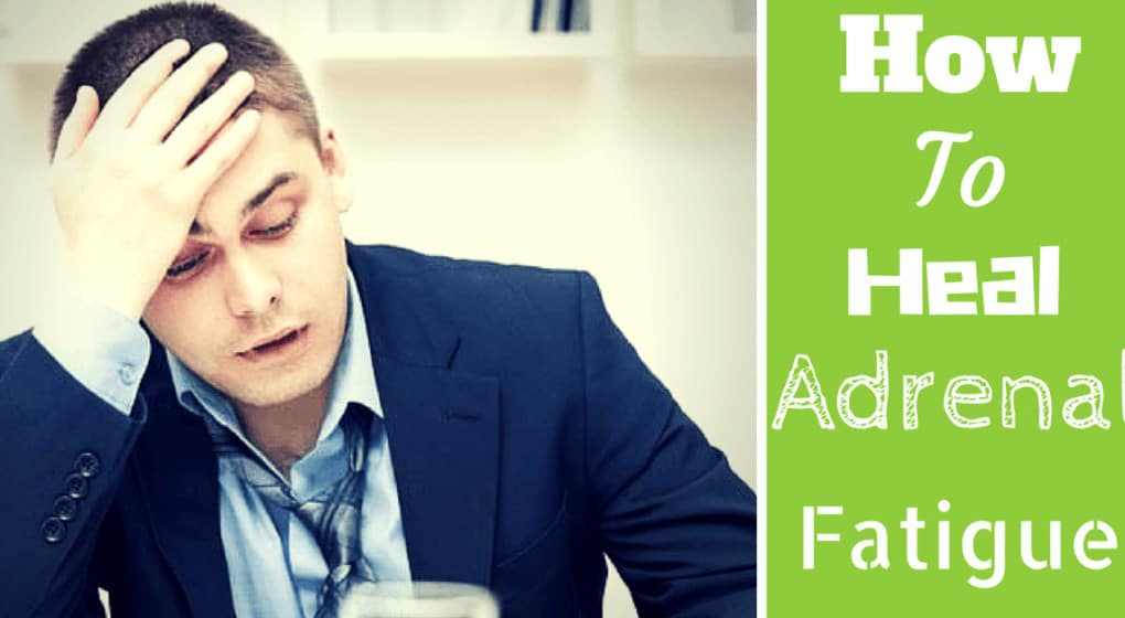 "A fatigued person with the title ""How to Heal Adrenal Fatigue"""