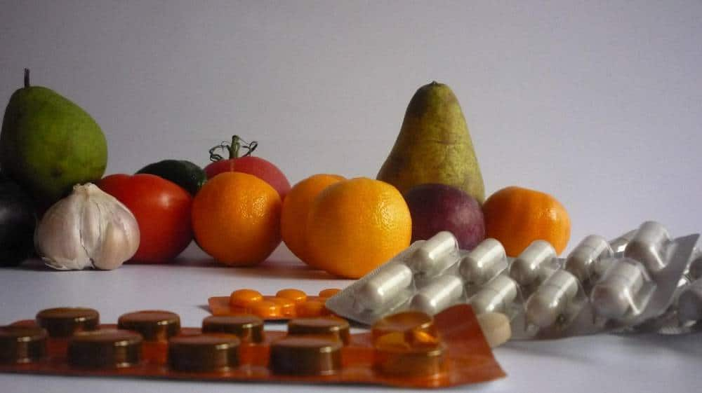 Fruit capsules and tablets.