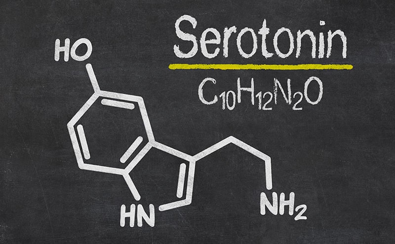 a chemical explanation of what serotonin is.